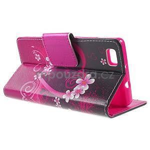 Peňaženkové PU kožené puzdro na Huawei Ascend P8 Lite - srdce - 3
