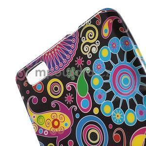 Gelový obal Style na Huawei Ascend P8 Lite - barevné kruhy - 3
