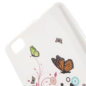 Gelový obal Style na Huawei Ascend P8 Lite - motýlkové - 3