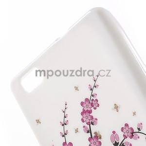 Gelový obal Style na Huawei Ascend P8 Lite - kvetoucí větvička - 3