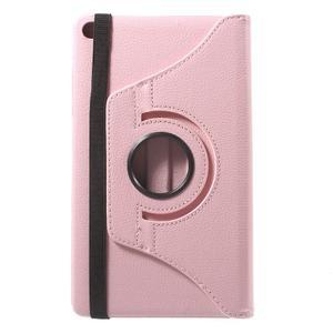 Otočné polohovatelné pouzdro na Huawei MediaPad M2 - růžové - 3