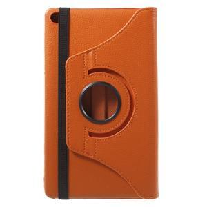 Otočné polohovatelné pouzdro na Huawei MediaPad M2 - oranžové - 3
