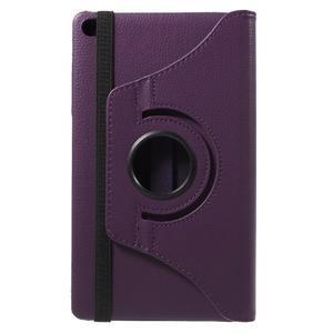 Otočné polohovateľné puzdro na Huawei MediaPad M2 - fialové - 3