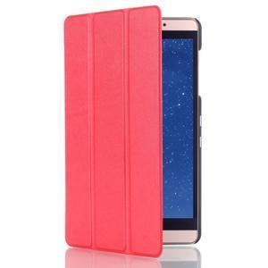 Trifold polohovatelné puzdro na tablet Huawei MediaPad M2 8.0 - červené - 3