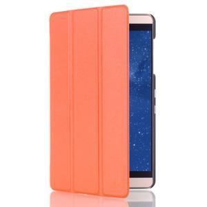 Trifold polohovateľné puzdro na tablet Huawei MediaPad M2 8.0 - oranžové - 3