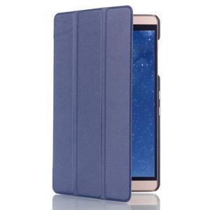 Trifold polohovateľné puzdro na tablet Huawei MediaPad M2 8.0 - tmavo modré - 3
