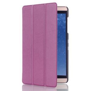 Trifold polohovateľné puzdro na tablet Huawei MediaPad M2 8.0 - fialové - 3