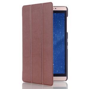 Trifold polohovateľné puzdro na tablet Huawei MediaPad M2 8.0 - hnedé - 3