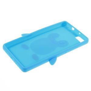 Tučňák silikonový obal na mobil Huawei P8 Lite - modrý - 3