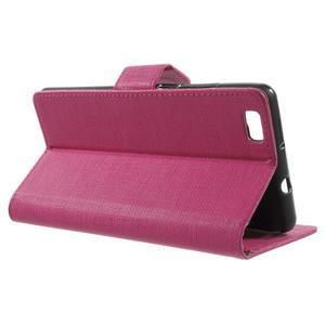 Clothy PU kožené pouzdro na mobil Huawei P8 Lite - rose - 3