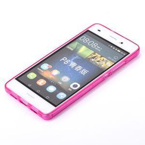 Square gelový obal na Huawei P8 Lite - rose - 3