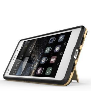 Odolný ochranný kryt na Huawei P8 Lite - zlatý - 3