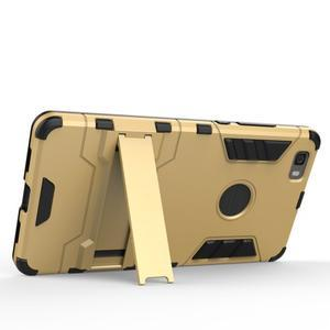 Odolný ochranný kryt na Huawei P8 Lite - stříbrný - 3