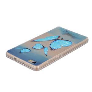 Průhledný gelový obal na Huawei P8 Lite - motýlci - 3