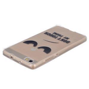 Průhledný gelový obal na Huawei P8 Lite - nedotýkat se - 3