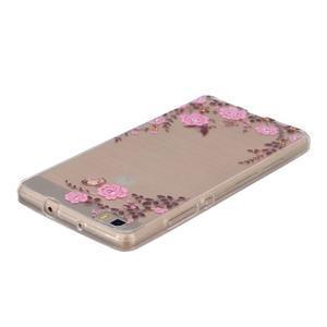 Průhledný gelový obal na Huawei P8 Lite - květinová harmonie - 3