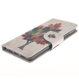 Leathy PU kožené puzdro na Huawei P8 Lite - farebný strom - 3
