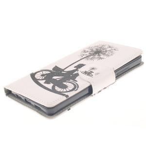Leathy PU kožené puzdro na Huawei P8 Lite - láska na bicykli - 3