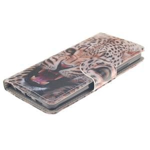 Leathy PU kožené pouzdro na Huawei P8 Lite - leopard - 3
