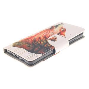 Leathy PU kožené pouzdro na Huawei P8 Lite - magický vlk - 3