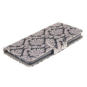 Leathy PU kožené pouzdro na Huawei P8 Lite - damask - 3