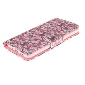 Leathy PU kožené puzdro na Huawei P8 Lite - ruže - 3