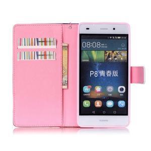 Picture PU kožené pouzdro na Huawei P8 Lite - láska v dešti - 3