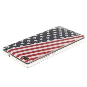 Flexi gelový obal na mobil Huawei P8 Lite - US vlajka - 3