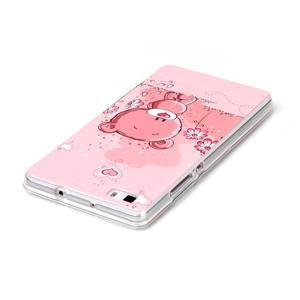 Softy gelový obal na mobil Huawei P8 Lite - medvídek - 3