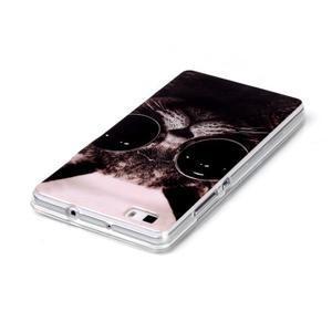 Softy gelový obal na mobil Huawei P8 Lite - cool kočka - 3