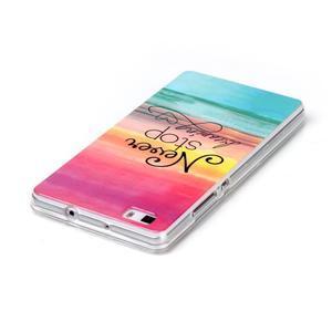 Softy gelový obal na mobil Huawei P8 Lite - nepřestávej snít - 3
