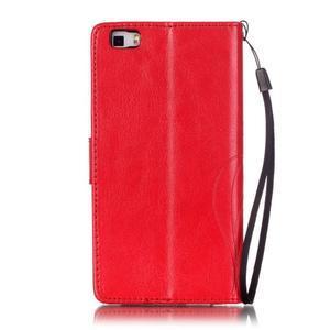 Magicfly PU kožené pouzdro na Huawei P8 Lite - červené - 3