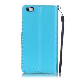 Magicfly PU kožené pouzdro na Huawei P8 Lite - modré - 3