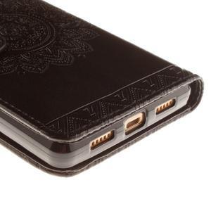 Mandala PU kožené pouzdro na mobil Huawei P8 Lite - černé - 3