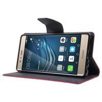 Diary PU kožené pouzdro na mobil Huawei P9 - rose - 3/7