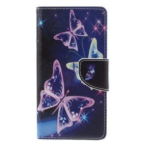 Richi PU kožené puzdro na Huawei P9 Lite - čarovné motýliky - 3