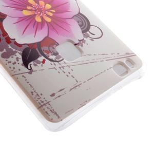 Ultratenký gelový obal na Huawei P9 Lite - květina - 3