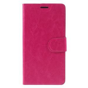 Horse PU kožené puzdro na mobil Huawei P9 Lite - rose - 3
