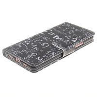 Knížkové PU kožené pouzdro na Huawei P9 Lite - vzorečky - 3/7