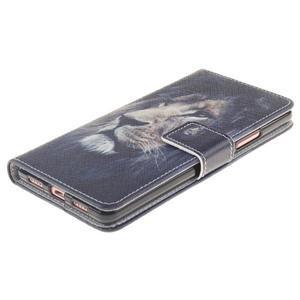 Floaty peněženkové pouzdro na mobil Huawei P9 Lite - lev - 3