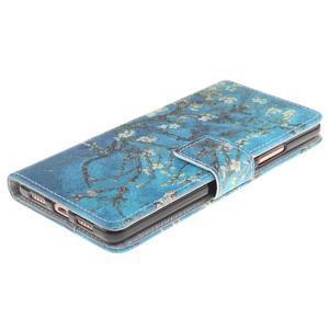 Floaty peňaženkové puzdro na mobil Huawei P9 Lite - kvitnúci strom - 3