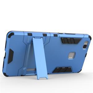 Odolný obal na mobil Huawei P9 Lite - šedomodrý - 3