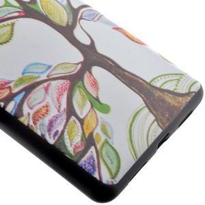 Softy gelový obal na mobil Huawei P9 Lite - barevný strom - 3