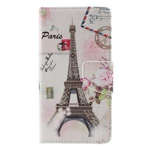 Richi PU kožené pouzdro na Huawei P9 Lite - Eiffelova věž - 3