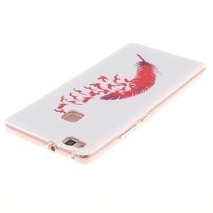 Gelový obal na Huawei P9 Lite - ptačí peříčko - 3