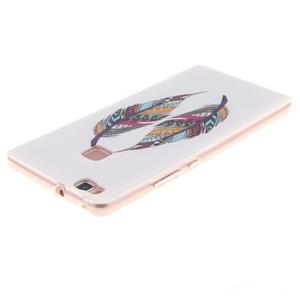 Gelový obal na Huawei P9 Lite - barevná peříčka - 3