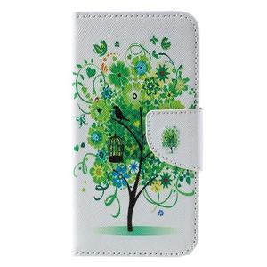 Emotive PU kožené puzdro na Huawei Y5 - zelený strom - 3