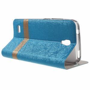 Lines knížkové pouzdro na Huawei Y5 a Y560 - modré - 3