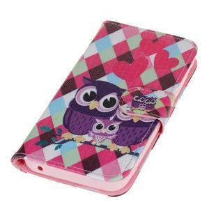Štýlové peňaženkové puzdro na Huawei Y5 a Y560 - sovia rodinka - 3