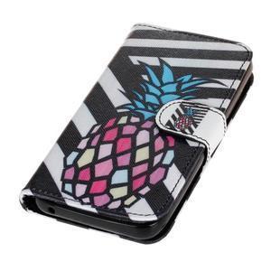 Štýlové peňaženkové puzdro na Huawei Y5 a Y560 - ananás - 3